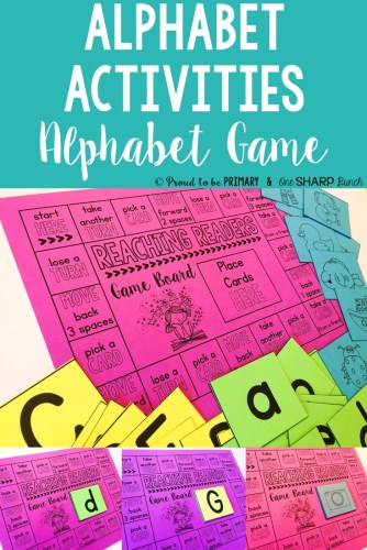 alphabet activities for small groups - alphabet game