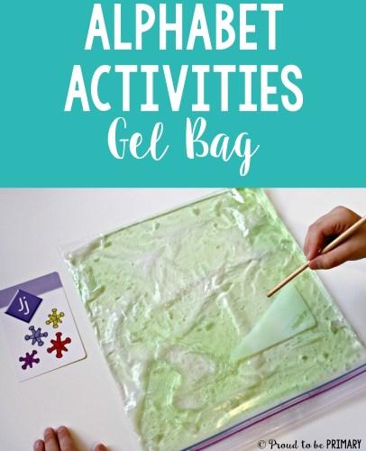 alphabet activities for small groups - alphabet gel bag
