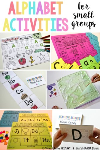 alphabet activities for small groups