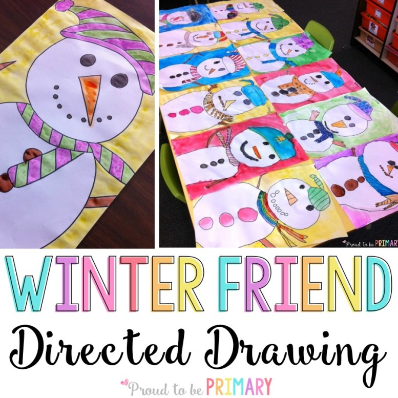 snowman drawing art activity