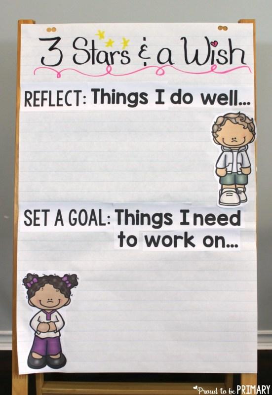 goal setting for kids - reflection