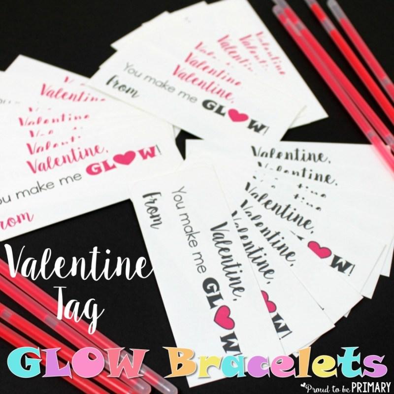 Valentine Tag Glow Bracelet
