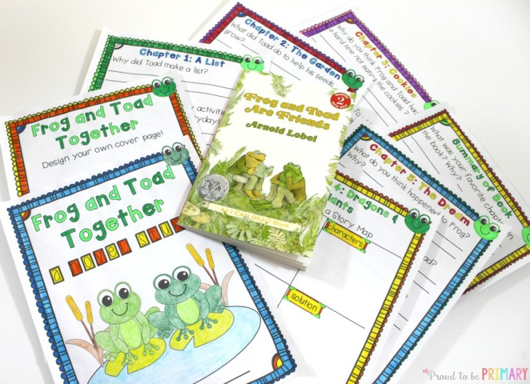 spring-themed activities for the classroom - frog and toad book report