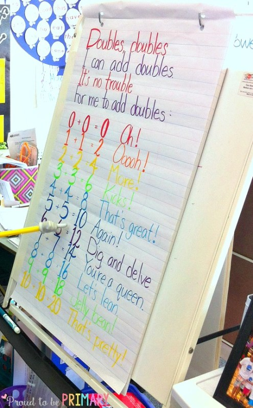tips for building math fluency - doubles chant