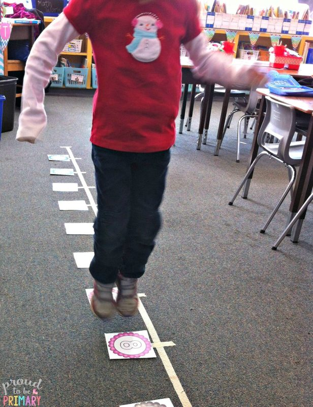 tips for building math fluency - human number line