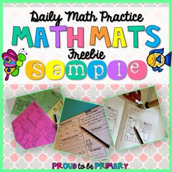 math mats freebie sample cover