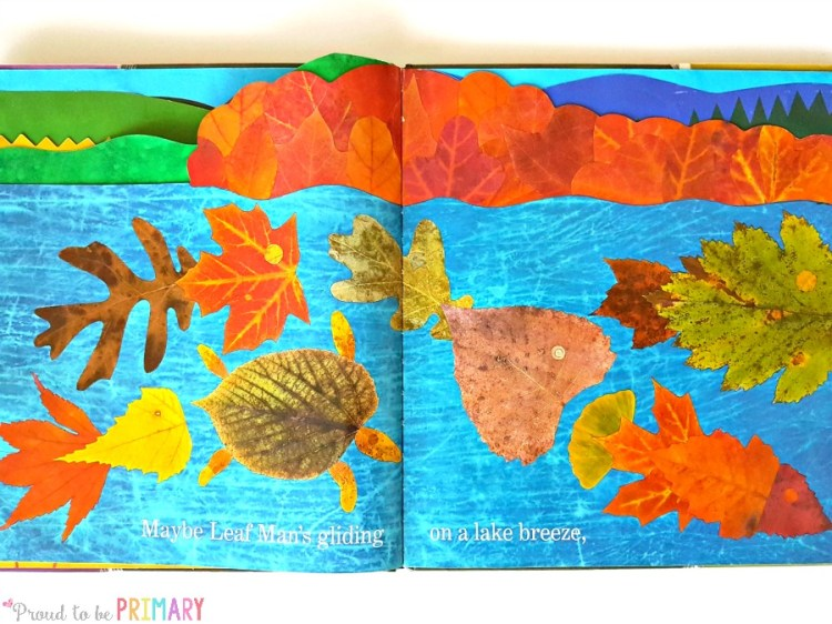 leaf activity for fall learning- leaf man book