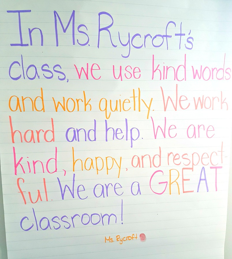 building classroom expectations - class contract