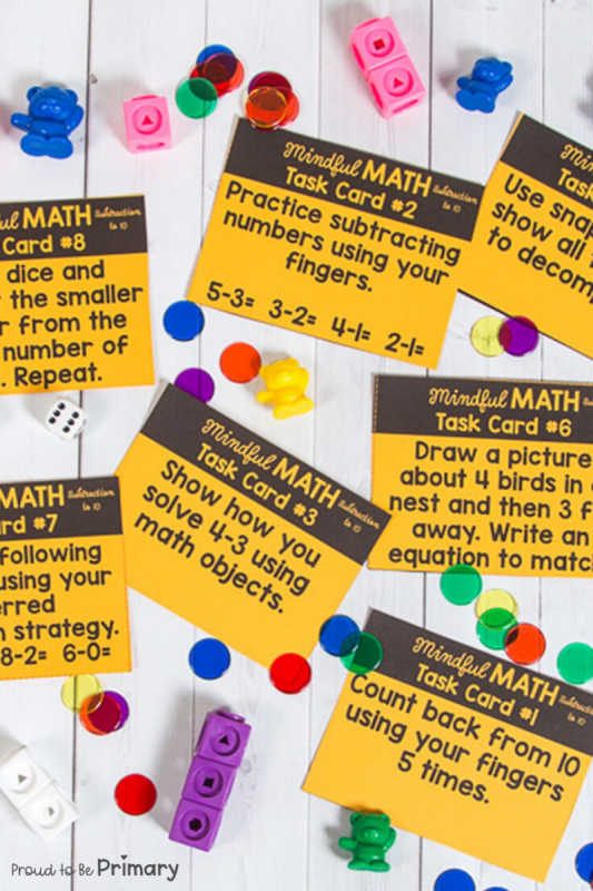 Math Program: Mindful Math Curriculum for Kindergarten, First Grade, and Second Grade at Home or School