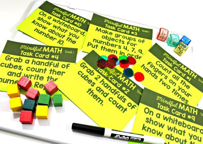 mindful math program task cards