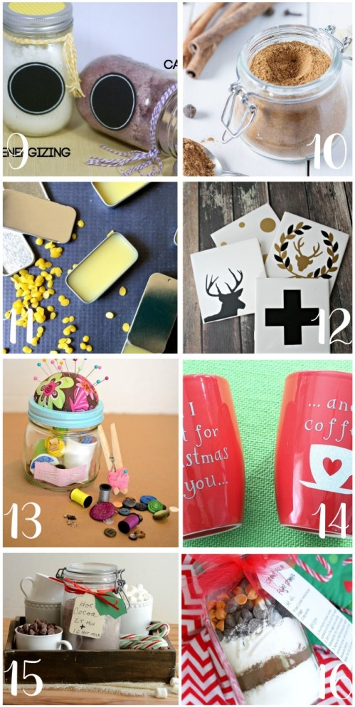 Here are 16 DIY holiday gifts for teachers. These homemade teacher gifts are simple and cheap to make. Great ideas for Christmas, Teacher Appreciation Day, or end of the year thank you gifts from students, parents, or colleagues!