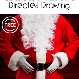 Santa Claus Directed Drawing Art Activity for Kids