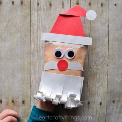 santa envelope puppet i heart crafty things