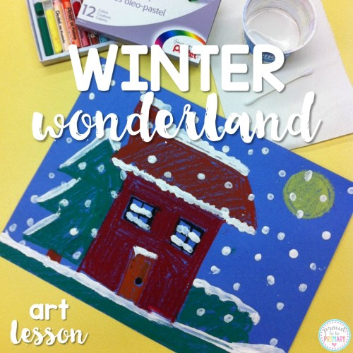 winter art project - winter wonderland art lesson