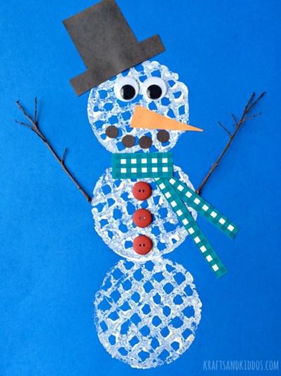 Juggling Act Mama - Snowman Waffle Printing