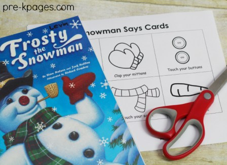 Pre-K Pages - Snowman Listening Game