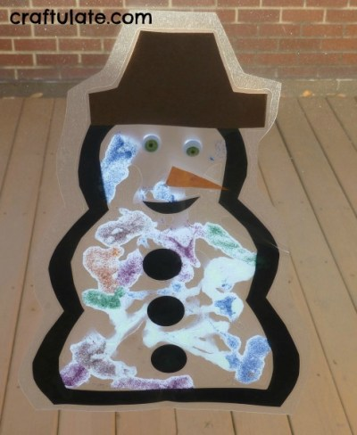 Craftulate - Snowman Suncatcher