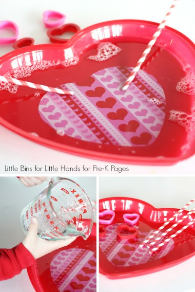 Pre-K Pages - Valentines Day Bubble Science Activity