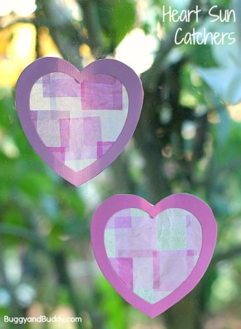 Buggy and Buddy - Heart Suncatchers