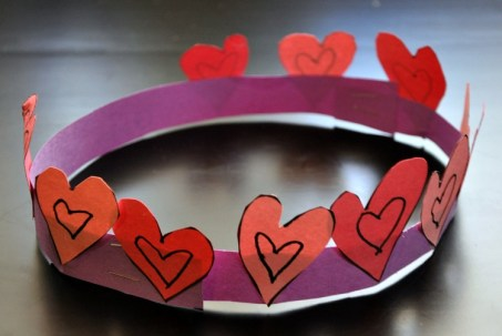 Happy Mothering - Valentines Day Heart Crown Craft