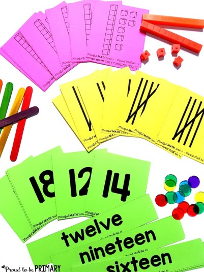 mental math flash cards for building number sense to 20