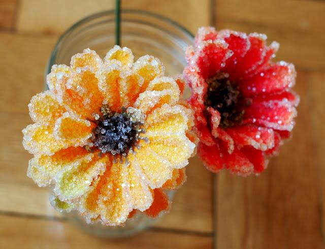 Pink Stripey Socks - Crystal Flowers