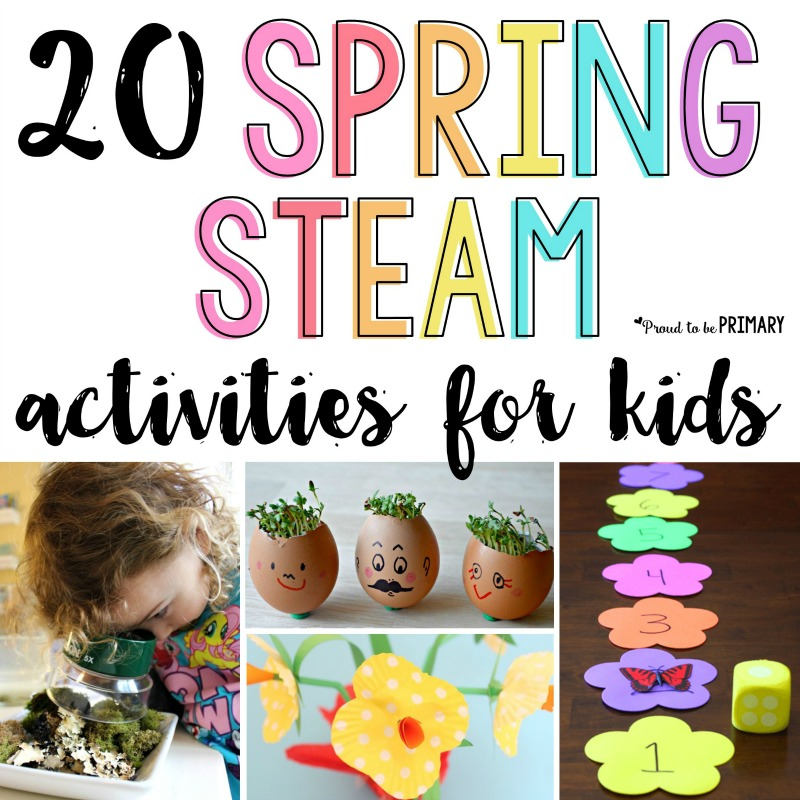 20 Spring STEAM activities for kids: Teach about flowers, butterflies, birds, and plants with arts & crafts, hands-on math and science, and more for spring.