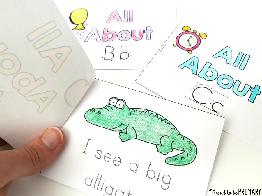 letter recognition - printable alphabet books