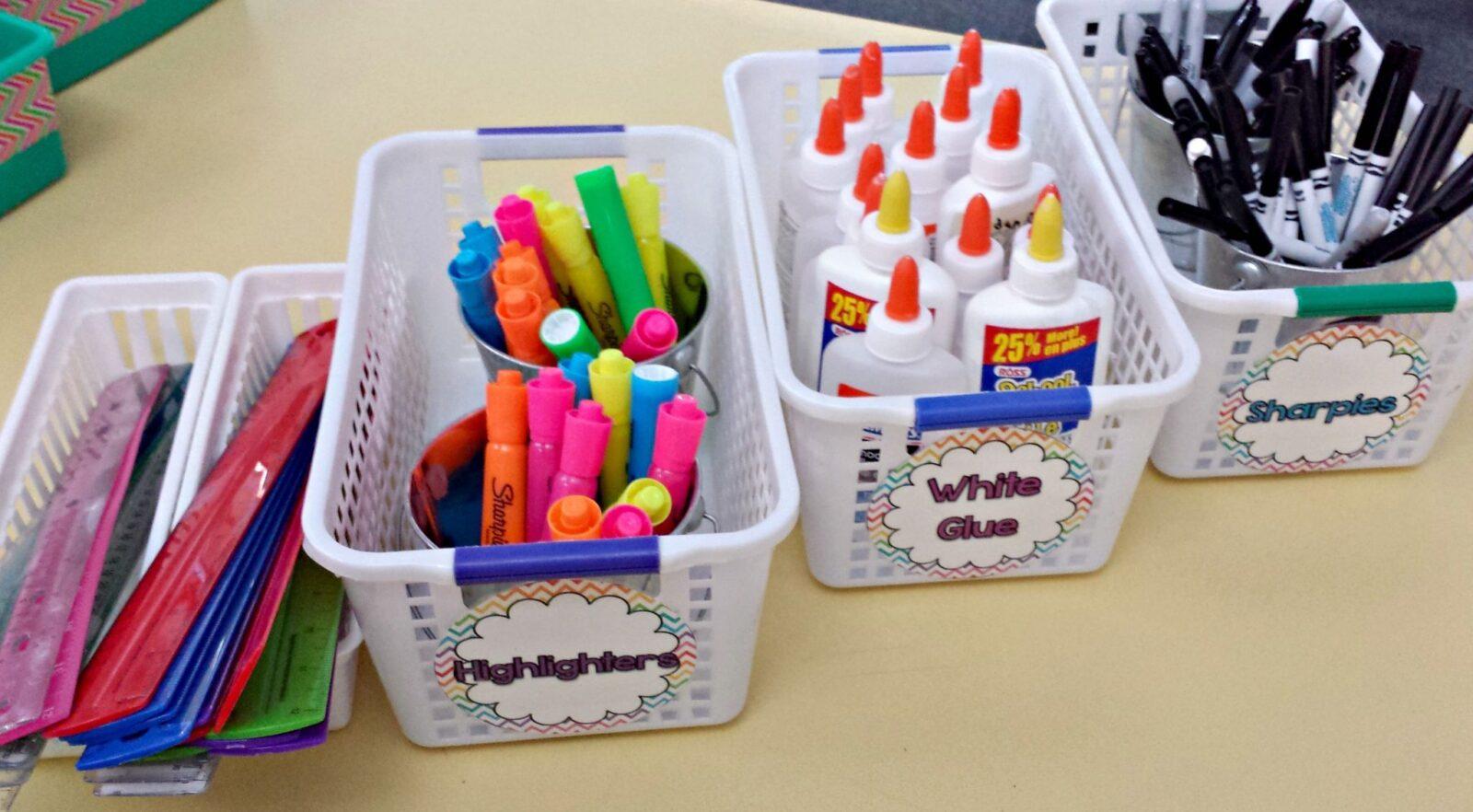 classroom organization ideas student supplies