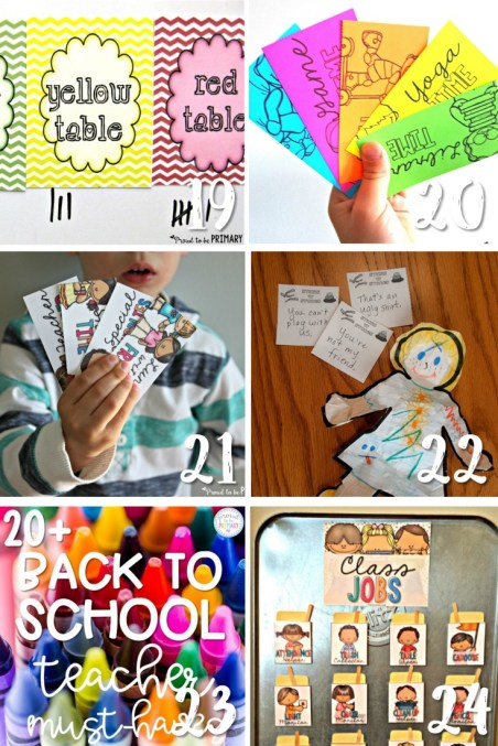 back to school teacher ideas and activities