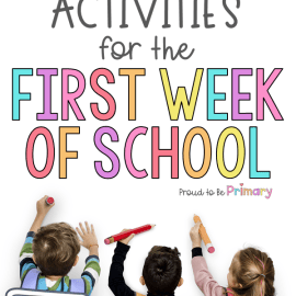 First Week of School Lessons & Activities