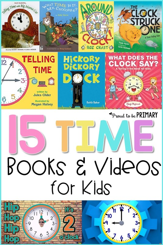telling time books and videos for kids