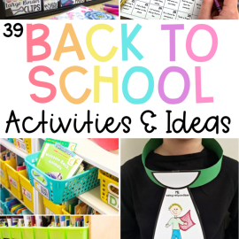 39 Back to School Activities & Ideas for Primary Kids
