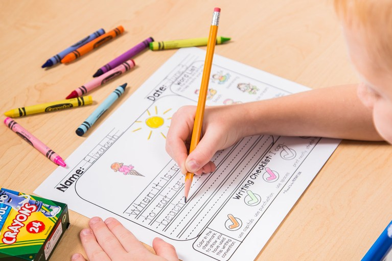 build independent writers with writing mats and prompts for kids