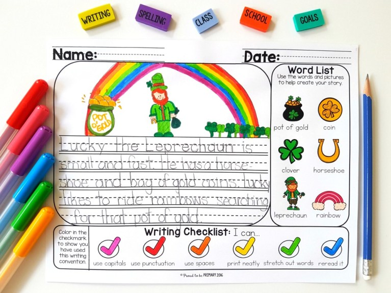 seasonal writing prompts and topics on writing mats for kids