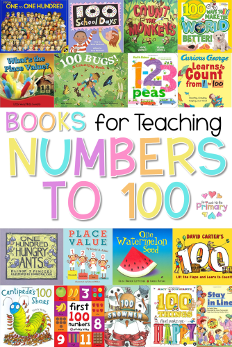 100 days of school idea: books for teaching numbers to 100