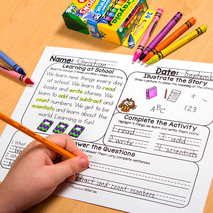 Teaching Reading Comprehension with Printable Activity Mats for K-2