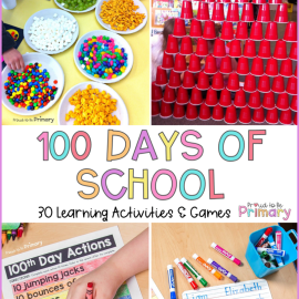 100 days of school ideas post pin