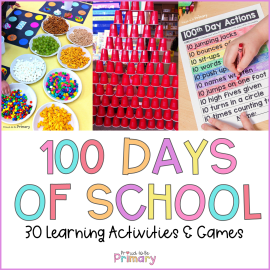 100 days of school ideas header