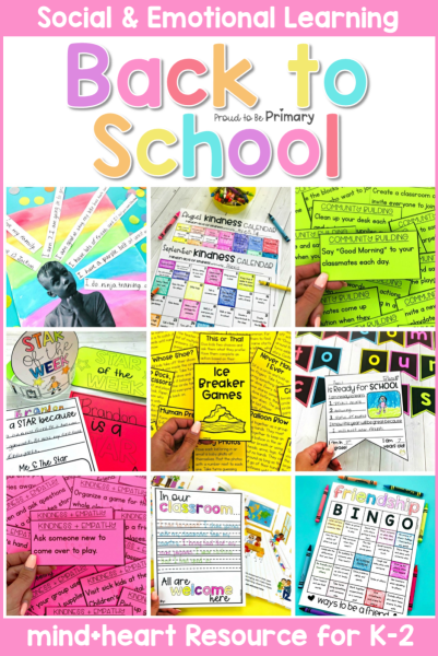 Back to School Social-Emotional Learning Resource