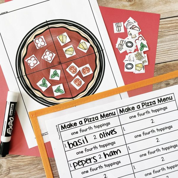 How to Make Learning Fractions Fun in the Primary Classroom - fractions pizza activity