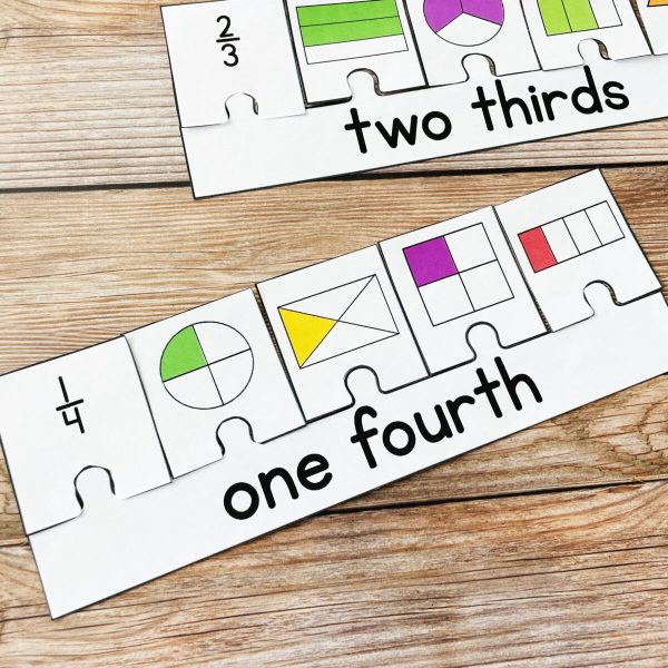 How to Make Learning Fractions Fun in the Primary Classroom - fractions puzzle activity