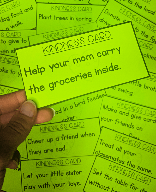 encourage random acts of kindness for kids in the classroom - kind act role playing activity