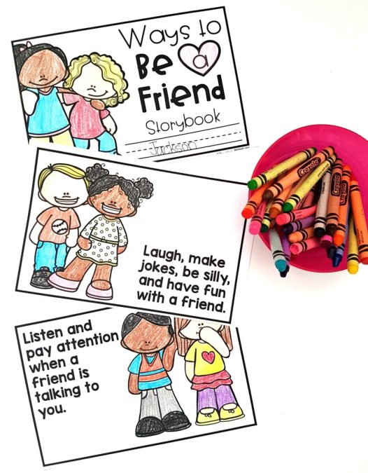 Friendship Building Activities for the K-3 Classroom: Ways to be a Friend Storybook