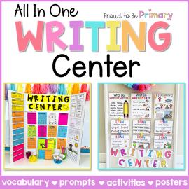 Writing Center for Kindergarten, First Grade, and Second Grade