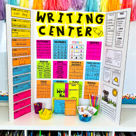 Help Kid Writers Create Writing in 6 Easy Steps - set up a portable writing center