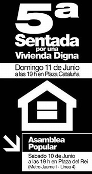 Cartell Cinquena Seguda per l'Habitatge Digne