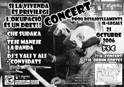 Concert contra els desallotjaments