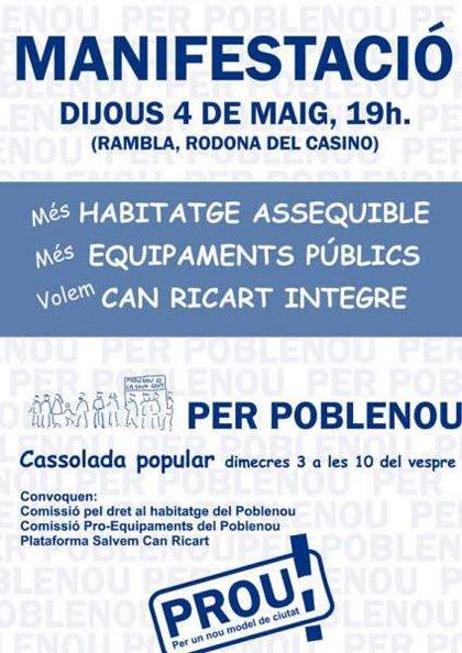 Manifestació per Poblenou