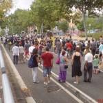 manifestació pel carrer Aragó